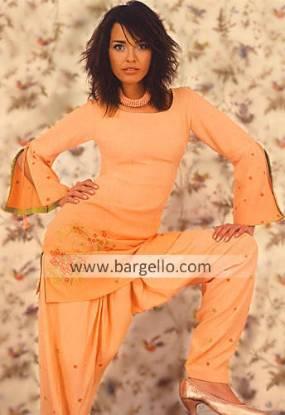 Pakistani Casual Shalwar Kameez, Georgette Dresses
