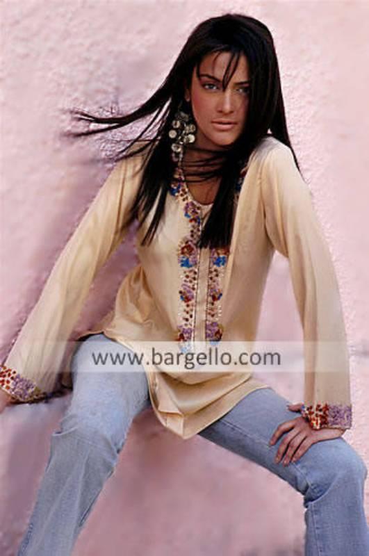 Embroidered Kaftans, Pakistani Designer Kurti, Embroidered