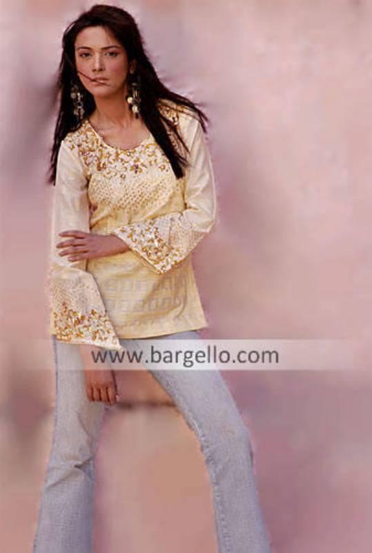 Pure Silk Kurti, Pakistani Designer Kurti, Embroidered