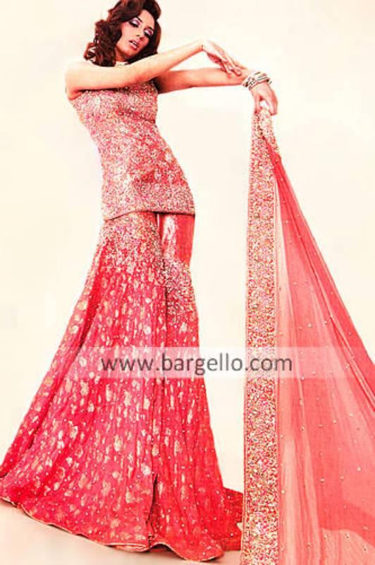 Designer Gharara, Pakistani Wedding Dress,