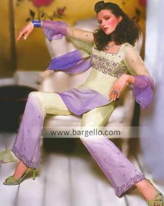 Two-toned Trouser Suit, Designer Salwar Kameez
