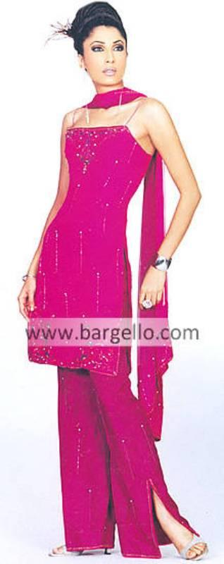 Deep Pink Bridesmaid beaded dress with beaded veil