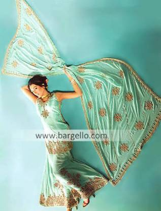 Pakistani Designer Sharara, Indian Wedding Dress