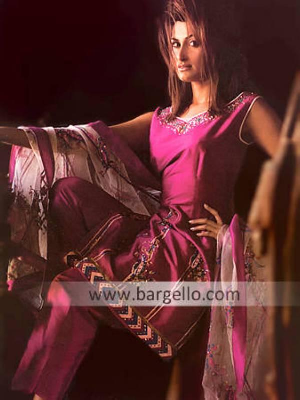 Pink Trouser Suit, Pakistani Designer Clothing