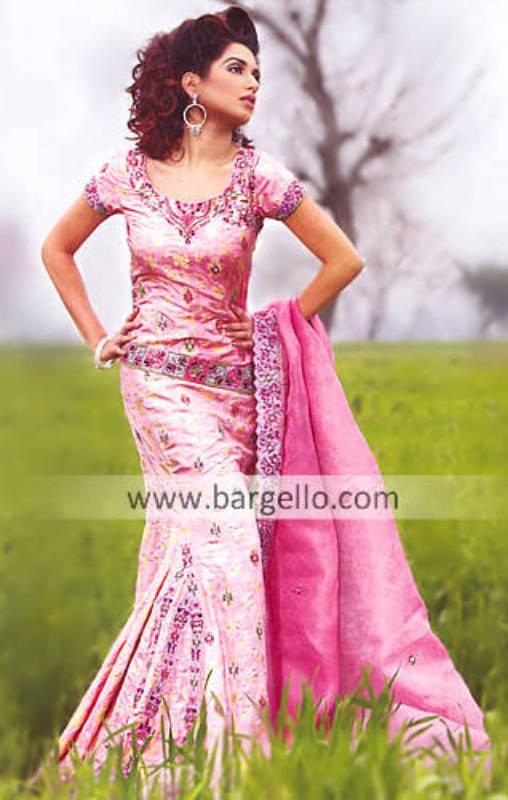Pink Lehenga Pink Lengha Pink Bridal Gharara Sharara