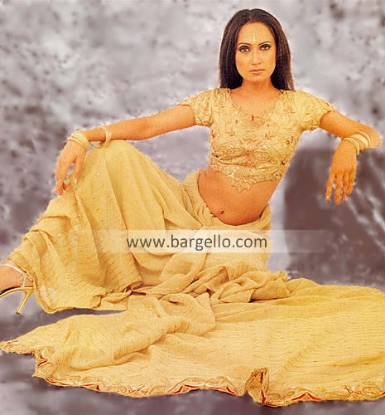 Pakistani Designer Saree, Heavy Zardosi Work