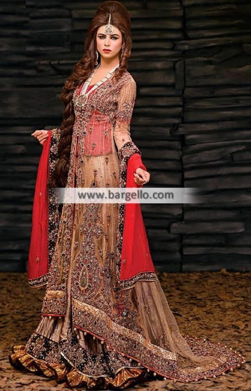 Glorious Bridal Dress for Wedding with Beautiful Stone Work Wedding Sharara Dress