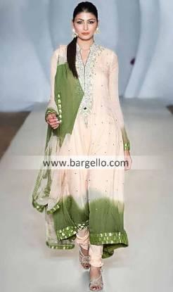 Renowned Fashion Designer Waseem Noor Amazing Dresses Catwalk in Pakistan Fashion Week London
