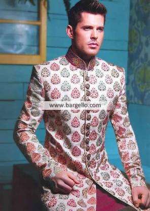Gorgeous Raw Silk Sherwani Suits Groom Wedding Sherwani Mens Sherwani