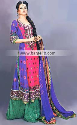 Beautiful Pakistani Designer Clothing Party Wear And Shararas Sheffield UK