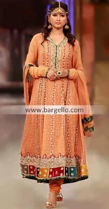 Designer Asifa Nabeel Anarkali Outfits in Bridal Couture Week Wolverhampton UK