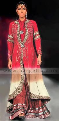 Lehenga Lengha Choli, Pink Bridal Gharara, Pink Wedding Outfit, Bridal Couture Week 2010 Collection