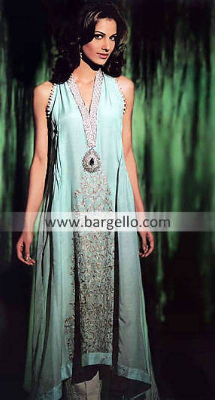 Bridal Couture Week Anarkali Dresses Floral Park Elmont, Lahore Fashion Week Anarkali Outfits NJ USA