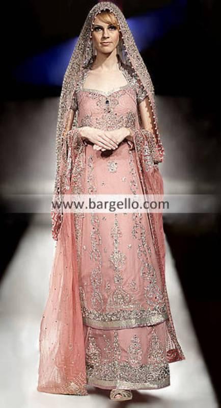 Pakistani Designer Bridal Wear Miami FL, Designer Wedding Dresses Miami Florida, Pink Bridal Miami