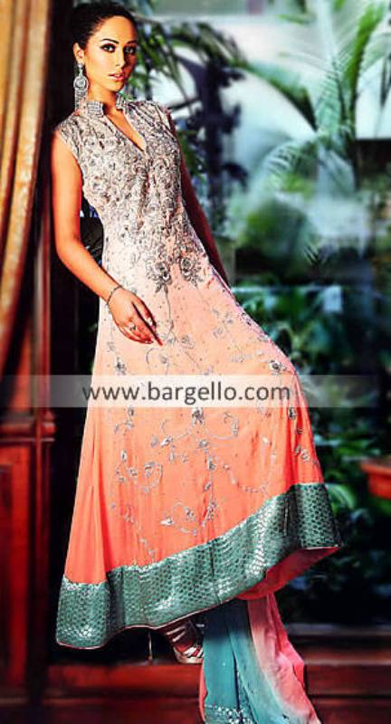 Latest Anarkali Dresses UK Soho Road, Latest Color Combination of Anarkali Pishwas Green Street UK