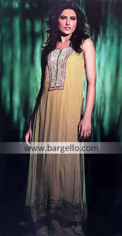Pakistani Designer Boutique 2012 Oklahoma, Crinkle Chiffon Long Shirt Dress Diamond Bar