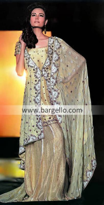Pakistani Dulhan Lehnga Lehenga with Gold Set, Pakistani Shararas Ghararas Design 2011 2012