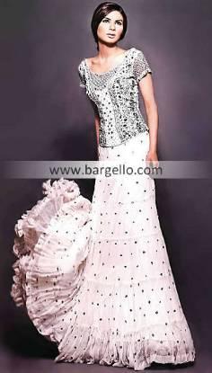 Chiffon Lehnga, Shirred Tiered Skirt Lehnga Lengha, Party Chiffon Lehengaas Online Store