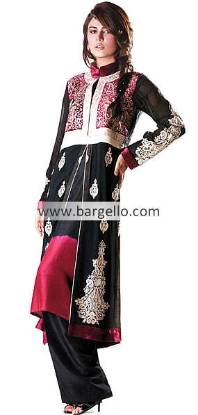 Pakistani Indian Embroidered Dresses, Designer Embroidered Outfits Pakistan India, Fancy Embroidered