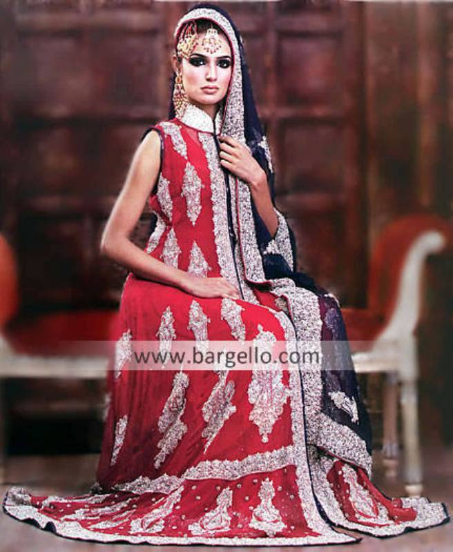 Pakistani Bridal Wear Red Purple Bridal Dress, South Asian Bride Magazine, Indian Bridal Offers