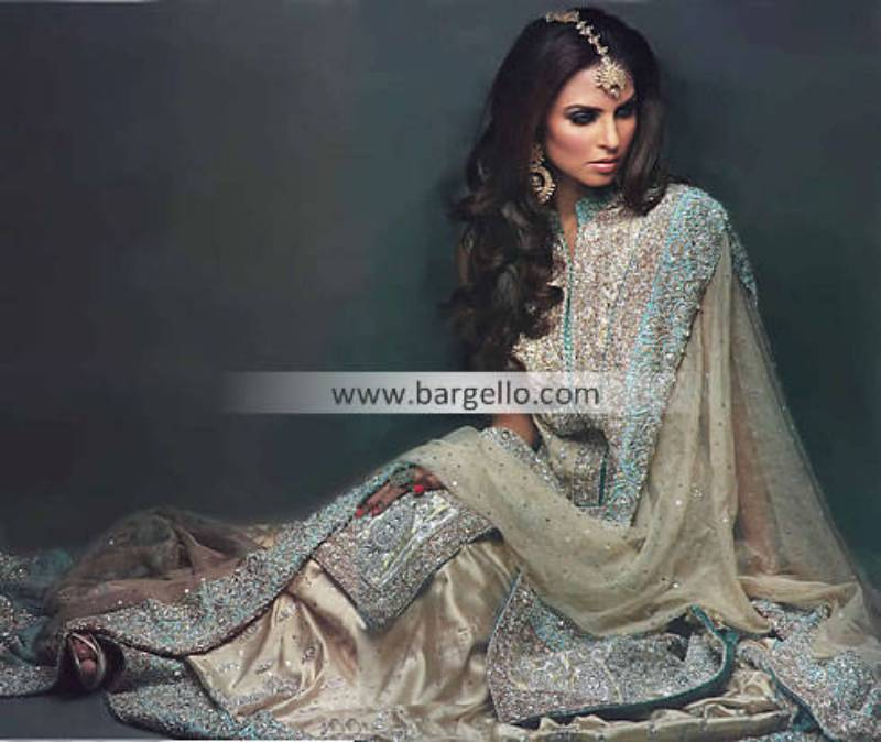 Chiffon Asian Bridal Wear, Chiffon Indian Bridals, South Asian Designer Chiffon Bridals