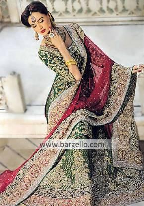 Bollywood Green Asian Bridal Lehenga, Asian Bridal Green Bollywood Lengha Lehnga, Indian Lehenga