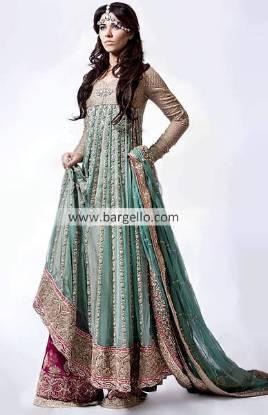 Pakistani Sharara, Pakistani Embroidered Sharara, Pakistani Embellished Sharara, Green Party Outfit