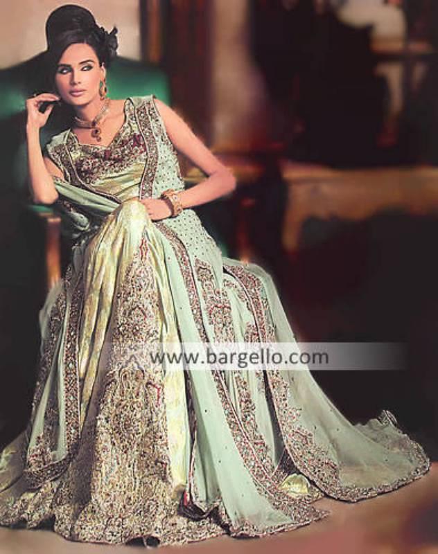 Bridal Wedding Lengha Lehnga Suits, Embellished Bridal Gown India, Indian Embellished Wedding Cloths