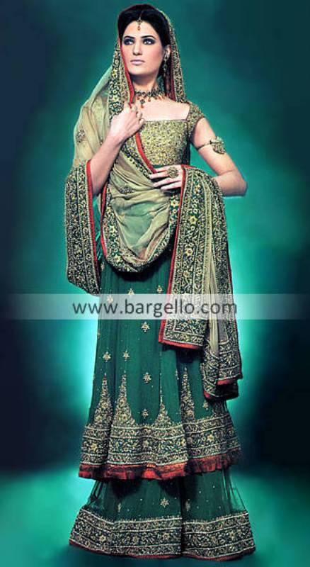 Green Bridal Dresses Pakistan, Green Bridal Outfits Pakistan, Green Bridals India Pakistan