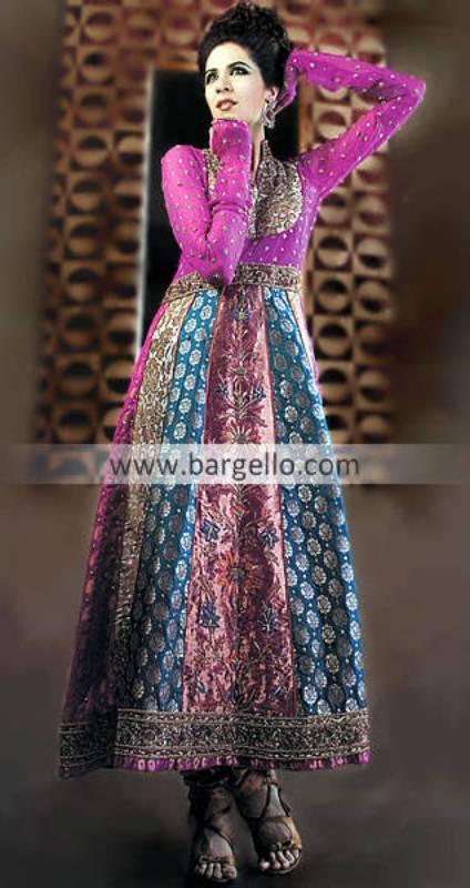 Magenta Anarkali Pishwas, Magenta Anarkali Outfits Online, Pakistani Ind Anarkali Outfits in Magenta