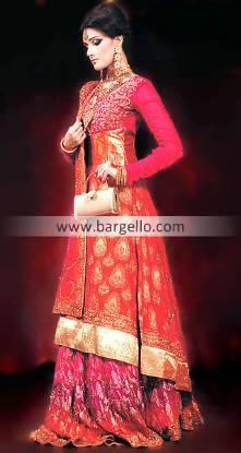 New Orange Red Anarkali Dresses, Buy Colorful Anarkali Pishwas Online, Latest Colorful Anarkali 2011