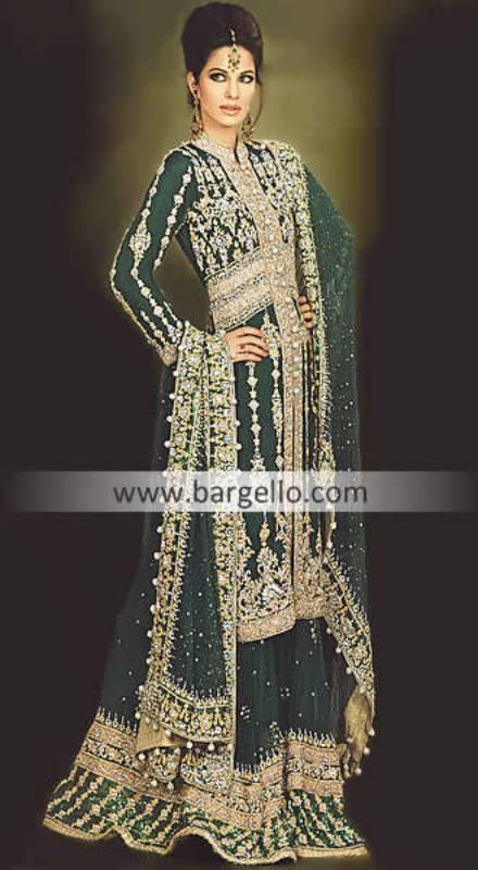 Bollywood Bridal Wear Movies, Green Bridals India Pakistan, Designer Bridals India Pakistan Green