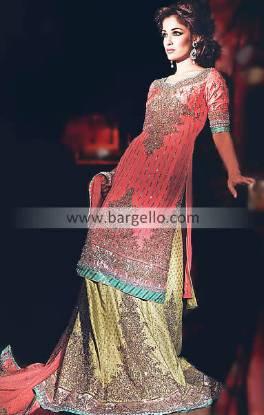 Bridal Dresses Pakistan, Jamawar Chiffon Colorful Bridals Pakistani India, Lehnga Collection