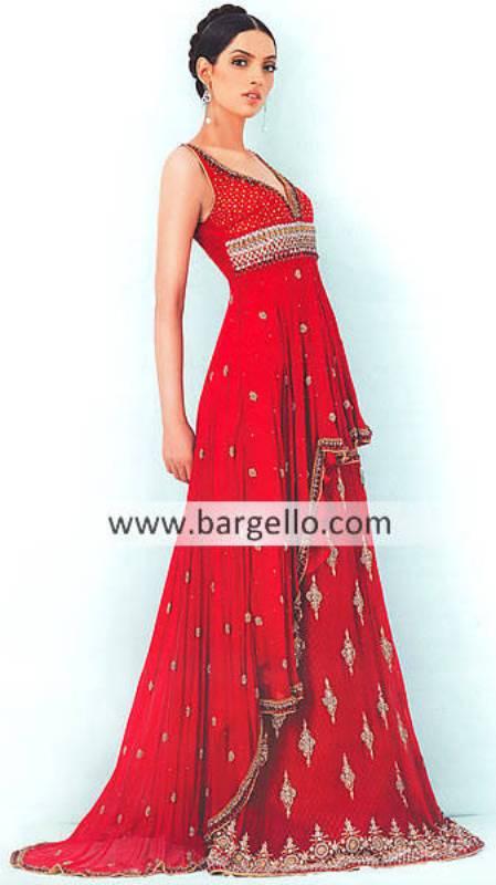 Red Wedding Lehngas, Red Wedding Lenghas Pakistan India, Red Wedding Dresses Pakistan India