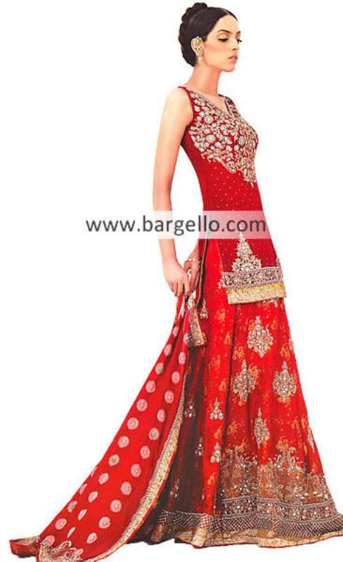 Red Wedding Lehenga Lehnga, Red Wedding Lenghas Pakistan India, Red Wedding Dresses Pakistan India