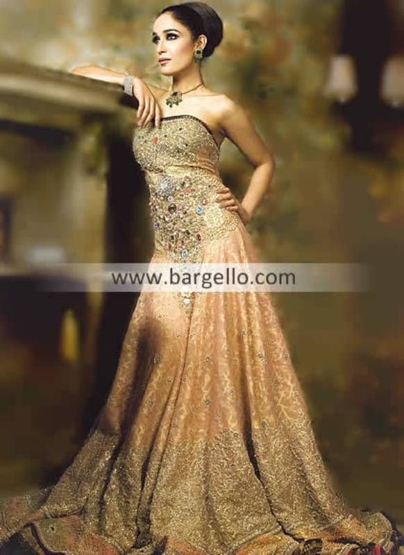 Embellished Gowns, Pakistani Embellished Gowns, Indian Embellished Gowns, Bridal Gowns Pakistani Ind