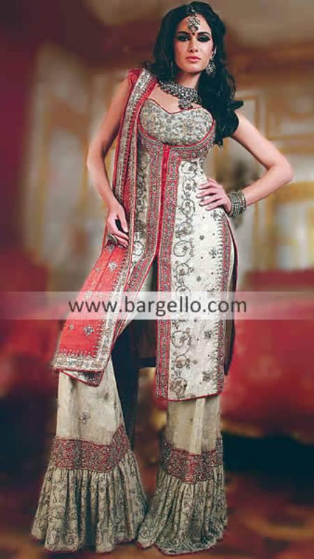 Designer Embroidered Gharara, Bridal Wear Indian Gharara, Indian Gharara Manufacturers and Wholesale