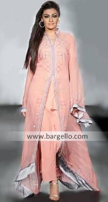 Bollywood Anarkali Dresses, Long Length Anarkali Style Suits India Pakistani, Pink Long Length Dress