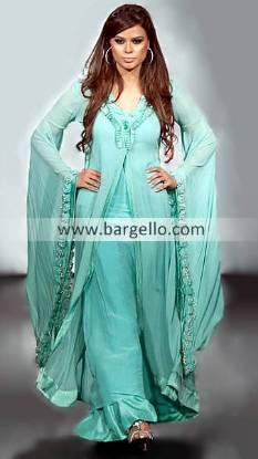 Anarkali Style Salwar Kameez Suit, Pakistani Dresses Butterfly Sleeves, Floor Length Dresses India