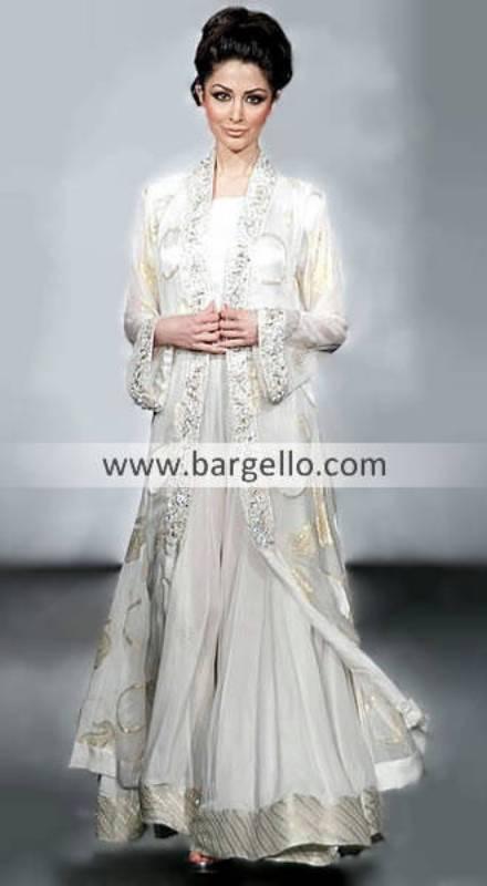 Anarkali Dresses UK, Designer Anarkali Suits, Off White Party Dress UK, Desi Dresses UK