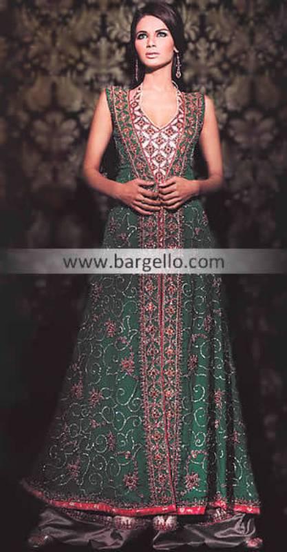 Green Anarkali Gown, Bridal Shalwar Kameez, Bridal Salwar Kameez, Fancy Salwar Shalwar Kameez