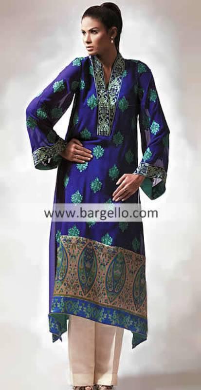Latest Anarkali Salwar Suit, Anarkali Pishwas Pishwaz Bollywood, Dark Blue Embroidered Anarkali
