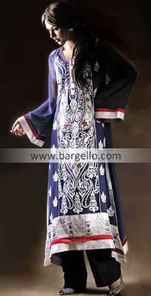 Pishwas Style Dress, Blue Anarkali Pishwas, Pakistani Embroidered Anarkali, Party Anarkali Outfits