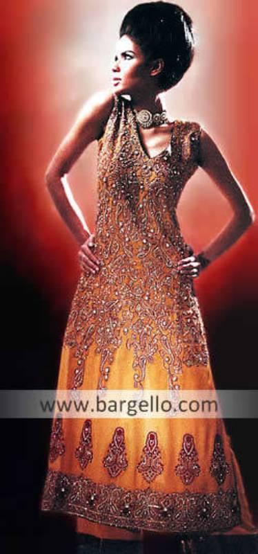 New Anarkali Dresses, Orange Anarkali Outfits, Anarkali Churidar Dress, Anarkali Trouser Suit
