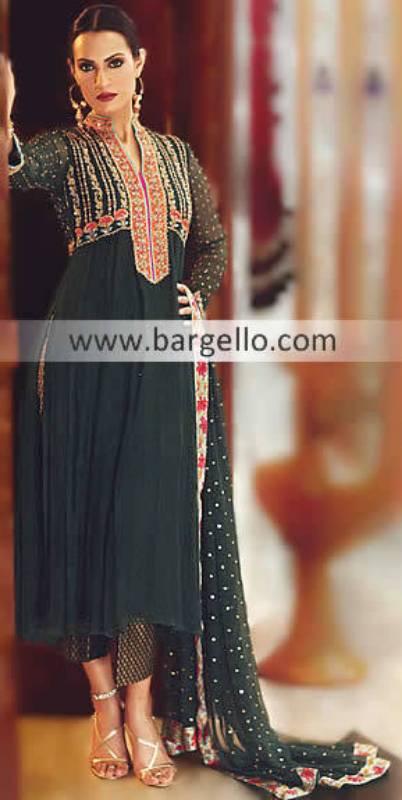 Black Designer Outfits Pakistan, Bollywood Designer Outfits, Flared Shalwar Kameez, Lose Qameez