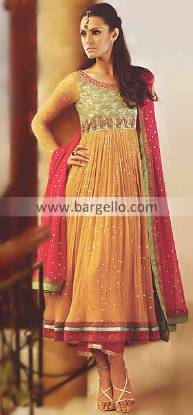 Anarkali Dresses Online Shopping, Anarkali Wedding Suits, Yellow Anarkali, Colorful Anarkali Pishwas
