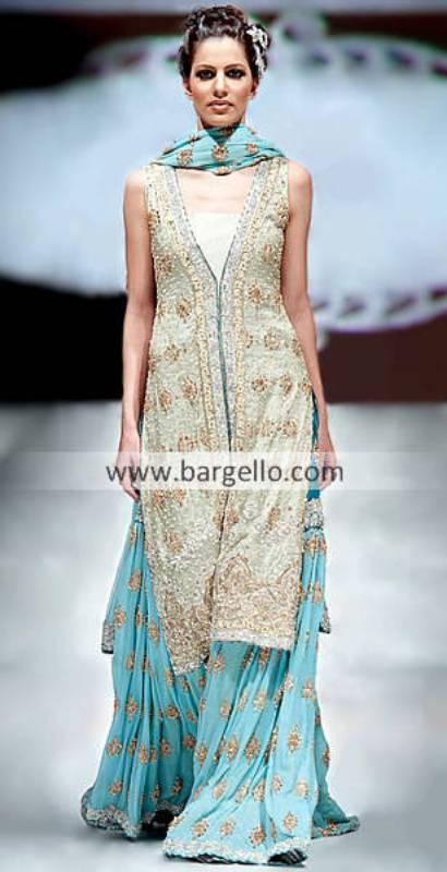Embroidered Gharara, Latest Bridal Gharara Styles Pakistan, Latest Gharara And Sharara Pictures