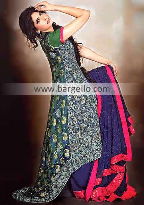 Party Dress India, Pishwas Dresses, Pishwas Collection, Long Kameez Suit, Flared Party Outfit India