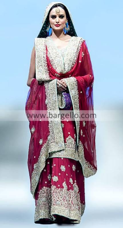 Chiffon Lehengas Lehngas, Pink Bridal Sharara, Pink Wedding Sharara, Fashion Sharara, Sharara India