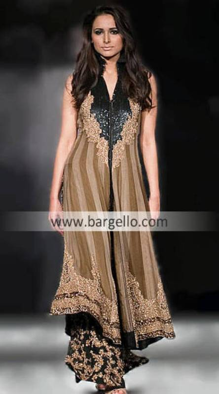 New Fashion Of Long Shirts, Embellished Clothing India Pakistan, HSY Collection, HSY Design 2010
